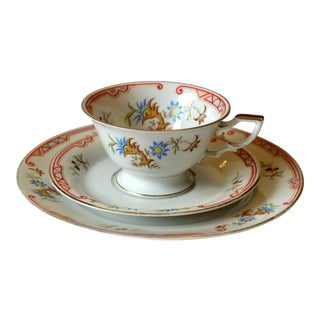 1930s Art Deco Bavarian Porcelain Tea and Coffee Set - 3 Piece Set For Sale
