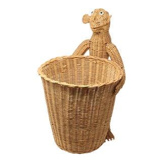 Mario Lopez Torres Monkey Waste Basket or Trash Can For Sale
