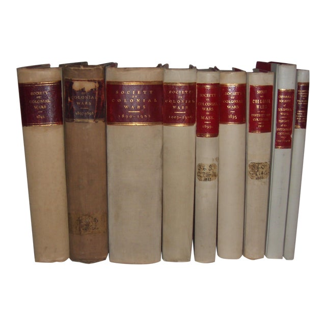 Antique 1896 - 1927 Society of Colonial Wars Books - S/9 - Image 1 of 11