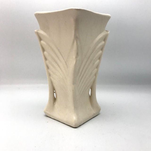 Vintage Mccoy Two Handled Cream Vase Chairish