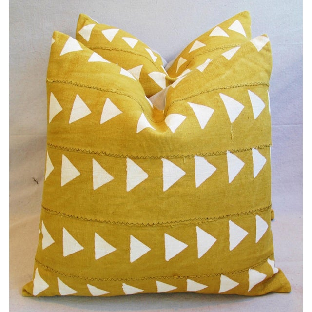 Boho Chic African Textile Pillows - A Pair - Image 7 of 10