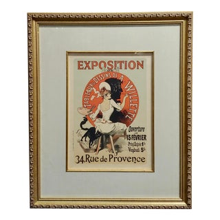 Jules Cheret -Exposition De Tableaux & Dessins De a Willette-French Poster-1900s Original Advertising Poster For Sale