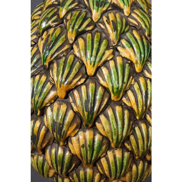 1940s Italian Pottery Pinecone Finial For Sale - Image 5 of 7