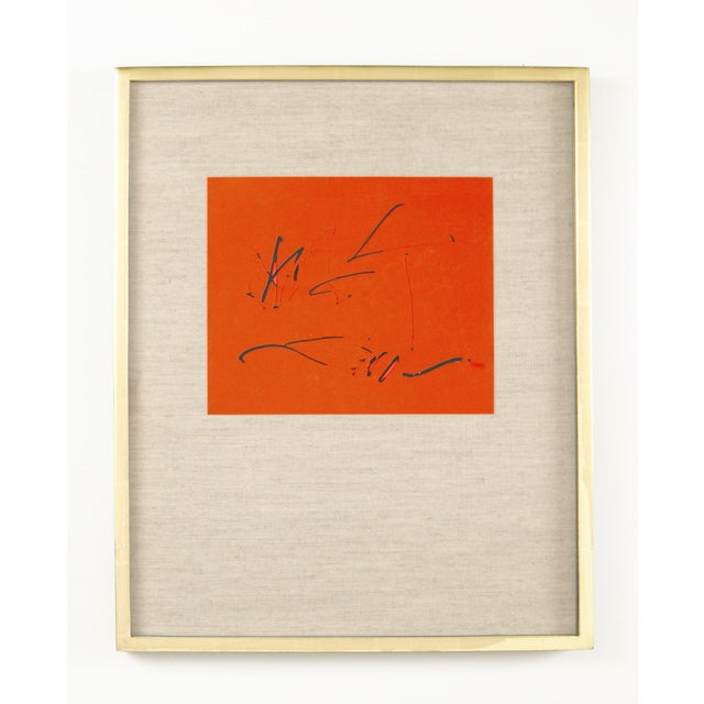 Modern Robert Motherwell and Octavio Paz Three Poems Cover Lithograph For Sale - Image 3 of 3