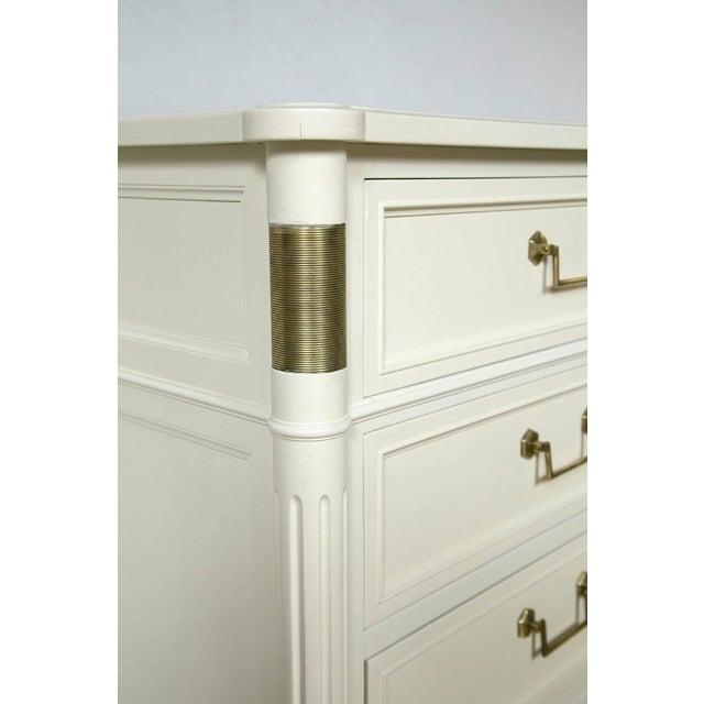 Baker Furniture White Lacquered Nine-Drawer - Image 3 of 6