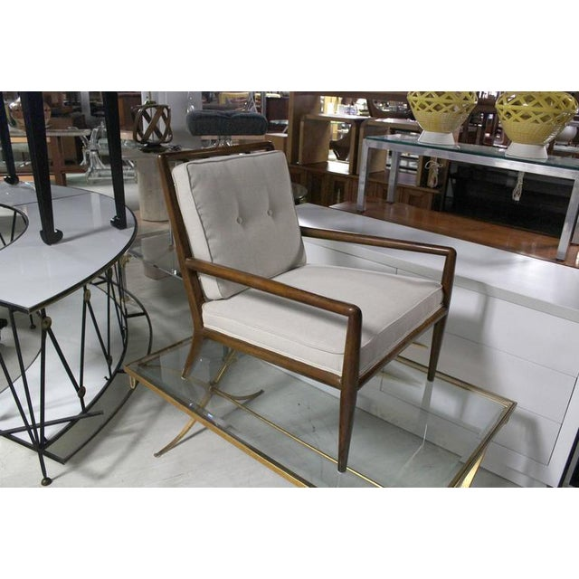 Wood Newly Upholstered Gibbings Lounge Arm Chair For Sale - Image 7 of 8