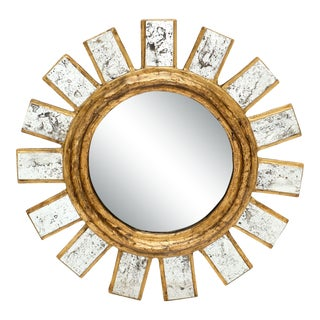 French Sunburst Mirror For Sale