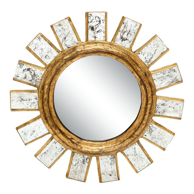 French Sunburst Mirror For Sale