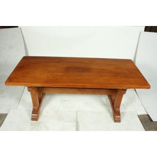 Country French Farmhouse Oak Trestle Dining Table, Ca. 1920s Preview