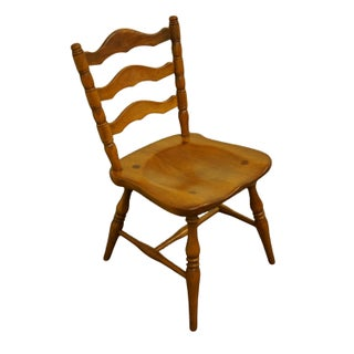 Late 20th Century Cushman Colonial Bennington, Vt Solid Hard Rock Maple Ladderback Dining Side Chair Preview
