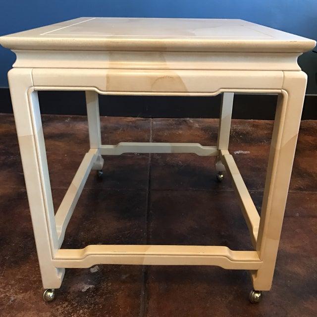 Henredon Chinoiserie Goatskin Lacquer Table - Image 6 of 11