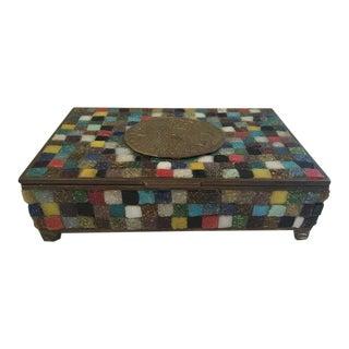 Mosaic Box by Artist Salvador Teran of Los Castillos For Sale
