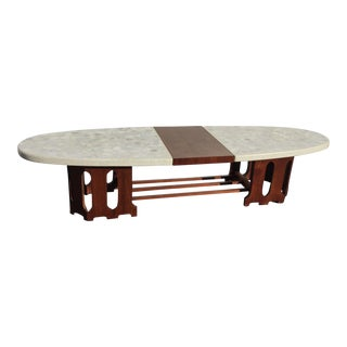 1960s Mid Century Modern Surfboard Shaped Stone Coffee Table