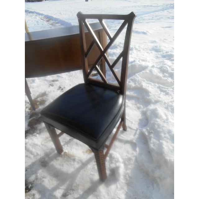 Gray Sligh Leather Top Ladies Writing Desk & Chair For Sale - Image 8 of 11