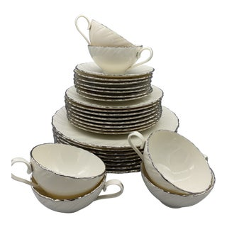 1960s Lenox Weatherly Dinnerware Set of 29 For Sale