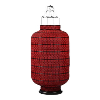 Oriental Large Red Lantern For Sale