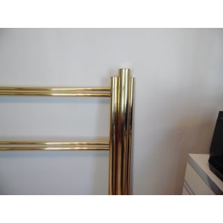 20th Century Art Deco Style Brass Skyscraper King Size Headboard and Footboard Preview