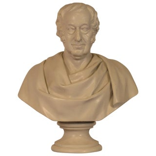 Classical Plaster Bust of Man For Sale