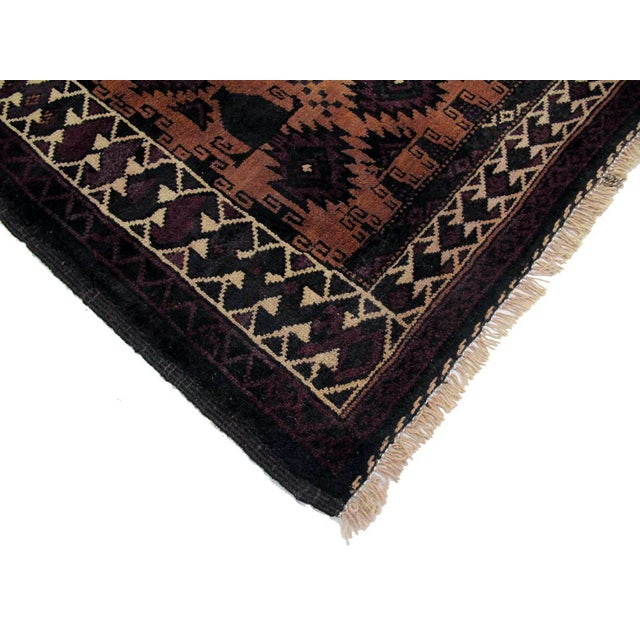 "Boho Chic Vintage Persian Baluchi Rug- 3'11""x8'2"" For Sale - Image 3 of 3"