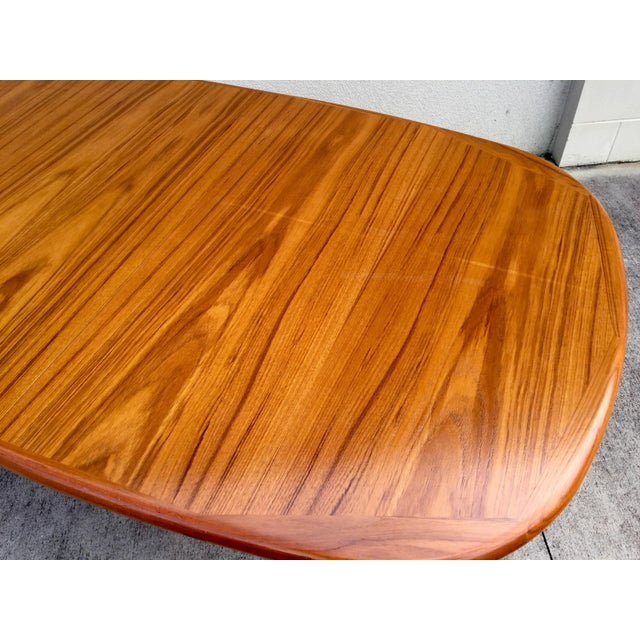 Mid-Century Expandable Teak Dining Table - Image 6 of 11