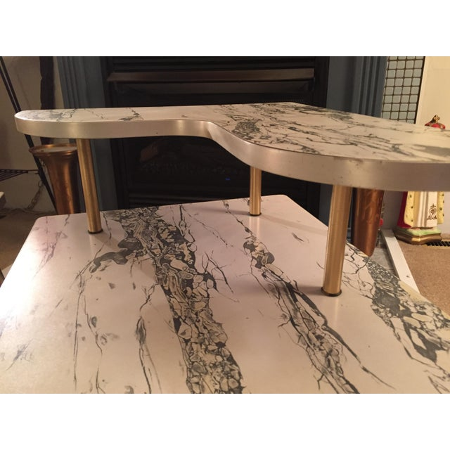Mid-Century Formica Marble End Tables - A Pair - Image 6 of 10