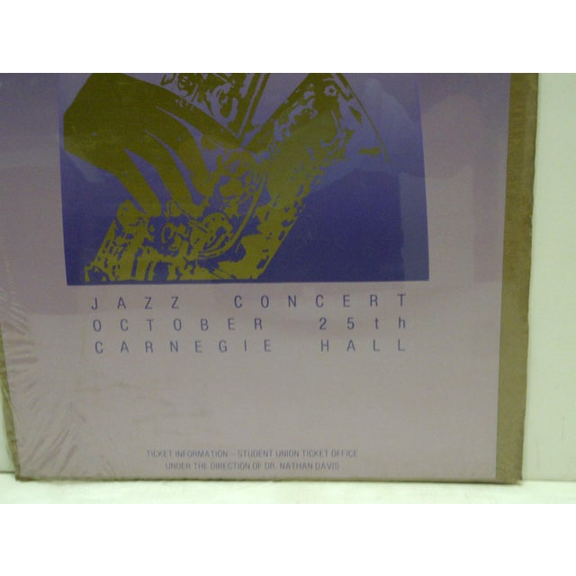 Vintage Jazz Concert Poster - Carnegie Hall, University of Pittsburgh, 1980 For Sale - Image 4 of 4