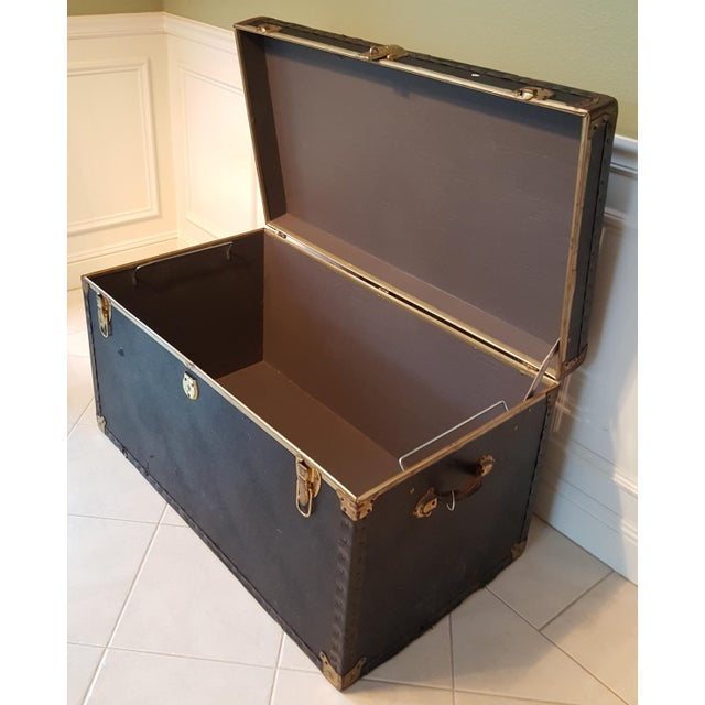 Vintage Extra Large Trunk - Image 11 of 11