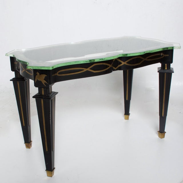 Metal Mid-Century Mexican Modernist Fleur De Lis Side Table by Arturo Pani For Sale - Image 7 of 11