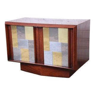 Paul Evans Cityscape Style Mid-Century Modern Walnut Cabinet or Nightstand by Lane For Sale