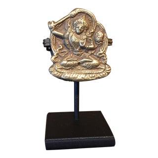 Antique Brass Buddhist Gau For Sale