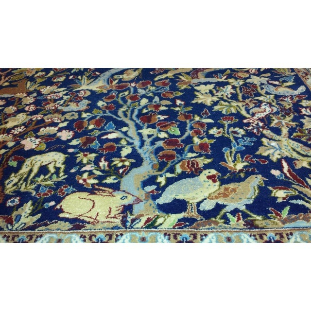 """Islamic Exceptional Vintage Isfahan Rug 5'7"""" x 8'9"""" For Sale - Image 3 of 5"""