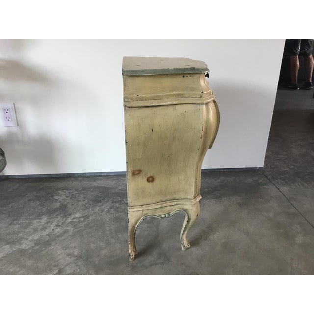 Yellow French Bombay Style Night Stand For Sale - Image 8 of 11