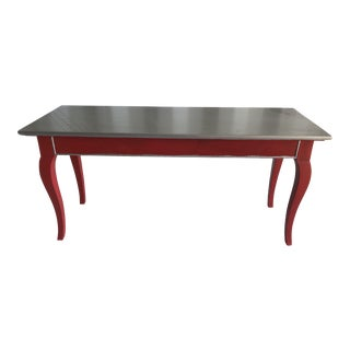 Red & Silver Coffee Table