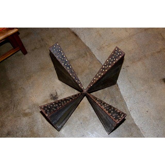Paul Evans Brutalist Steel Coffee Table For Sale - Image 9 of 13