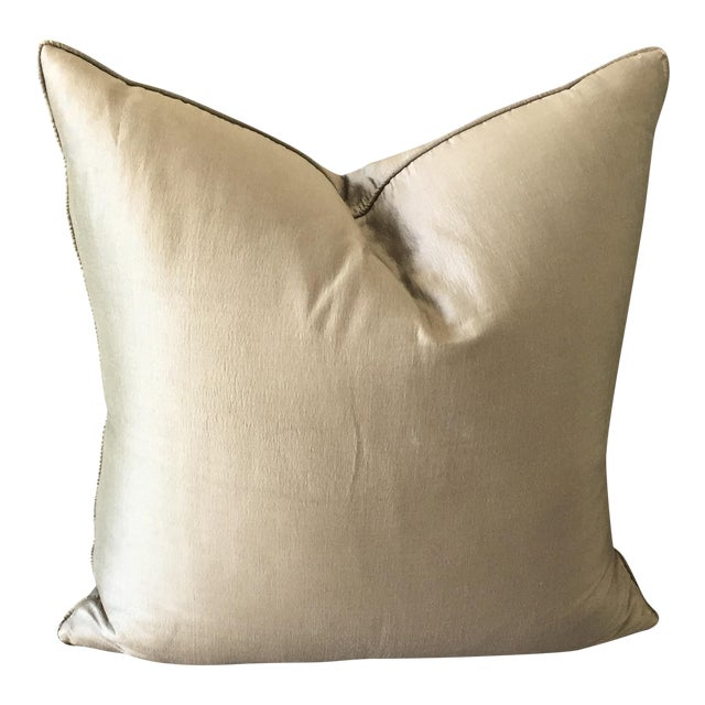 Christian Liaigre Silk Pillow For Sale