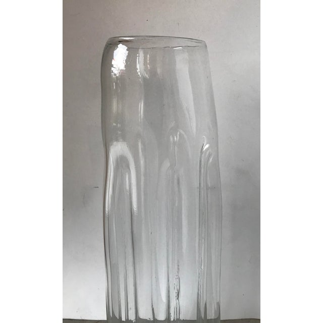 1970s 1970s Mid-Century Modern Blenko Tall Glass Vase For Sale - Image 5 of 6