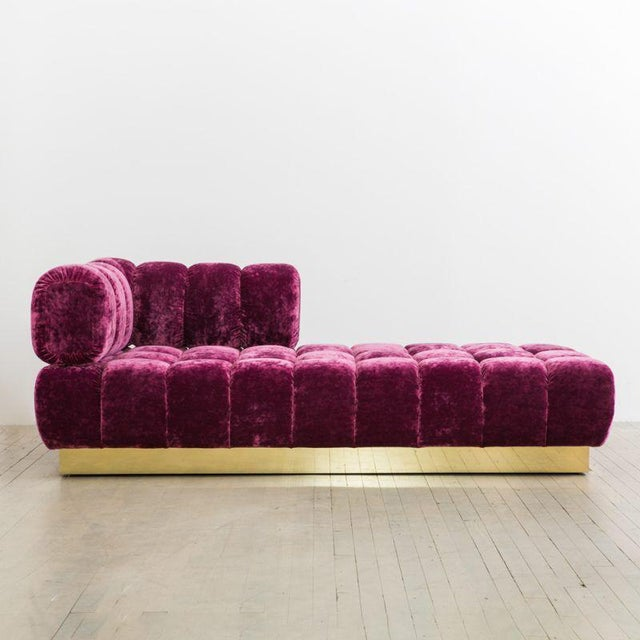 Pink Todd Merrill Custom Originals, Tufted Chaise / Daybed with Removable Back, USA , 2017 For Sale - Image 8 of 8