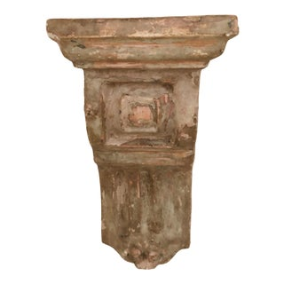 Vintage Plaster Corbel Architectural Salvage Wall Hanging Shelf For Sale