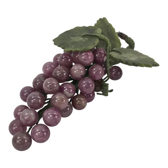 Purple Quartz & Jade Grapes Cluster For Sale