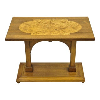 Art Deco Tomlinson Burr Burl Walnut Accent Table For Sale