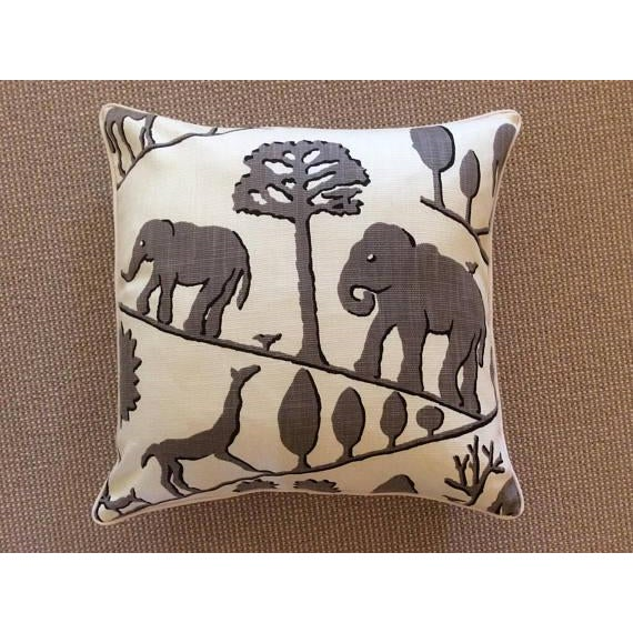 Boho Chic Jungle Walk Pillow Covers - a Pair For Sale - Image 3 of 4