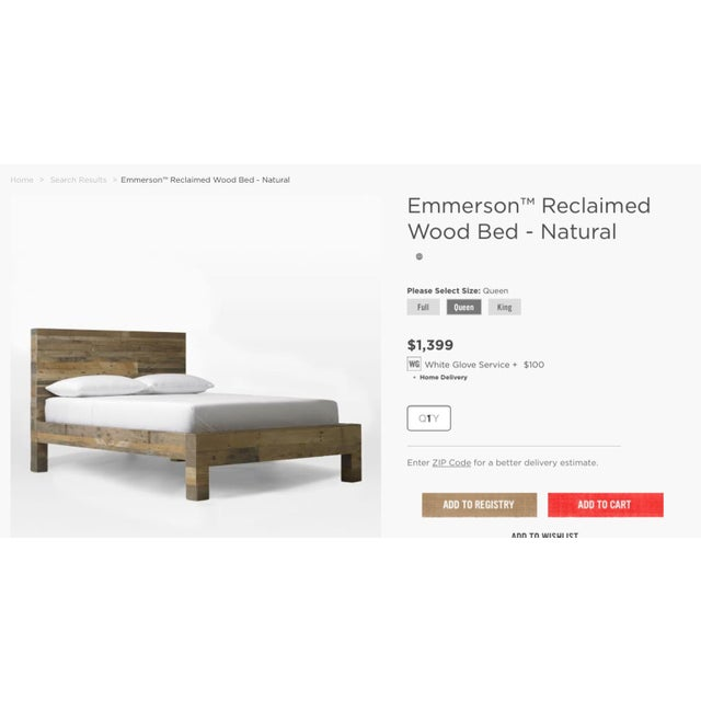 West Elm Emmerson Bedframe - Image 7 of 8