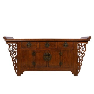 Antique Chinese Carved Sideboard/Buffet Table