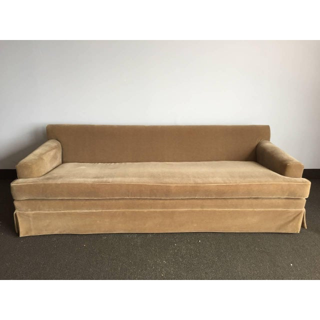 Extra-Long Classic JMF Style Mohair Sofa For Sale - Image 4 of 5