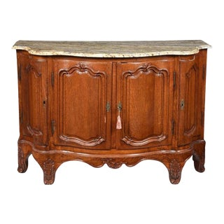 18th Century Provincial Louis XV Marble Top Server For Sale
