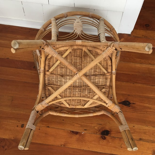 Vintage Rattan Chair For Sale In Washington DC - Image 6 of 10
