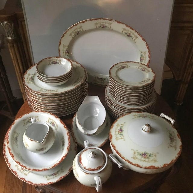 This is a rare estate sale find is an absolutely stunning set of China from Hinode /Noritake made in Japan. it is very...