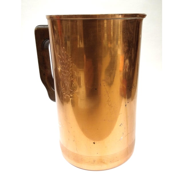 Mid-Century Embossed Solid Copper Pot - Image 5 of 8