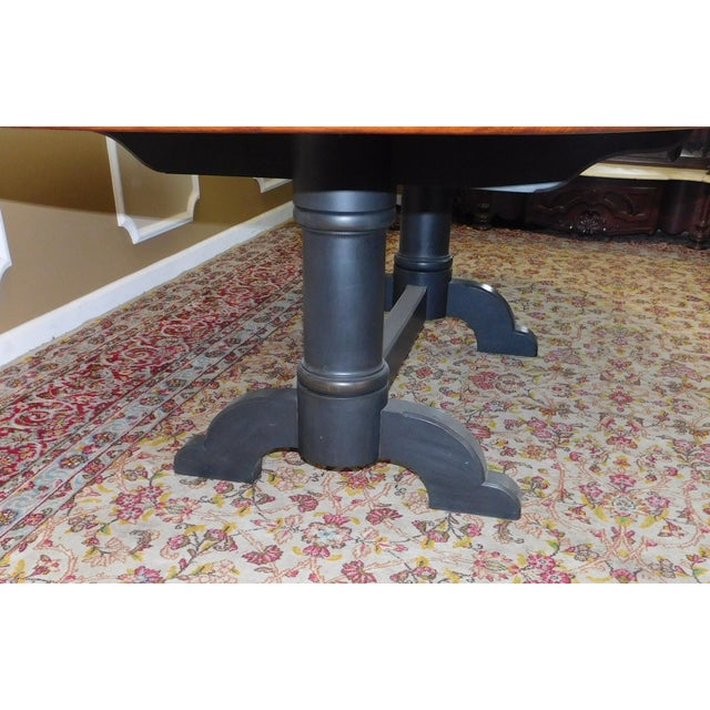 Tiger Maple Oval Country Dining Table - Image 9 of 10