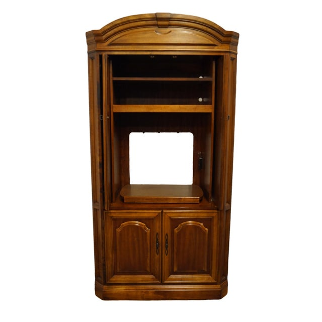 "High end vintage cherry Italian provincial 41"" entertainment cabinet / Media armoire 89-53. 80.75"" High 41"" Wide 23"" Deep..."